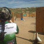 girl at the shooting line